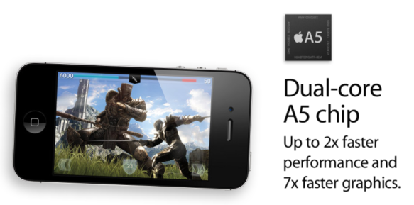 A5 Dual Core iPhone 4S